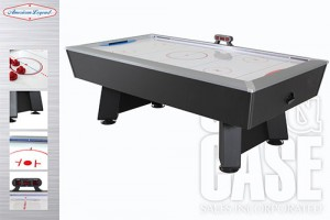Phazer 7.5 Air Hockey Table by Cue and case