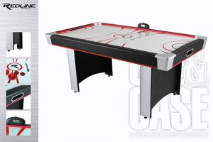 Victory 6ft Air Hockey Table by Cue and case