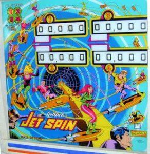 Jet Spin Backglass