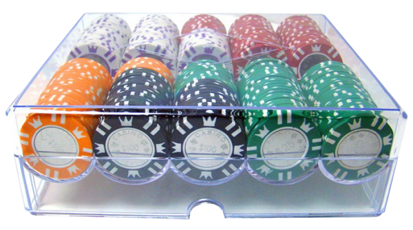 Games People Play 187 Coin Inlay Poker Chip Set With Wooden